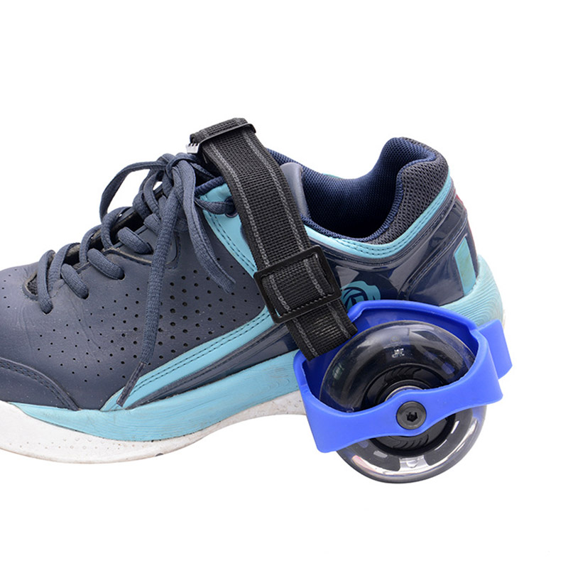 1 Pair Flashing Roller Skating Shoes Whirlwind Pulley Flash Wheel Heel Roller SMN88