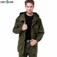 Men Army Military Jacket Cotton US Army AIR FORCE Trench with Hood Jackets Autumn Men's Casual Jacket Coat
