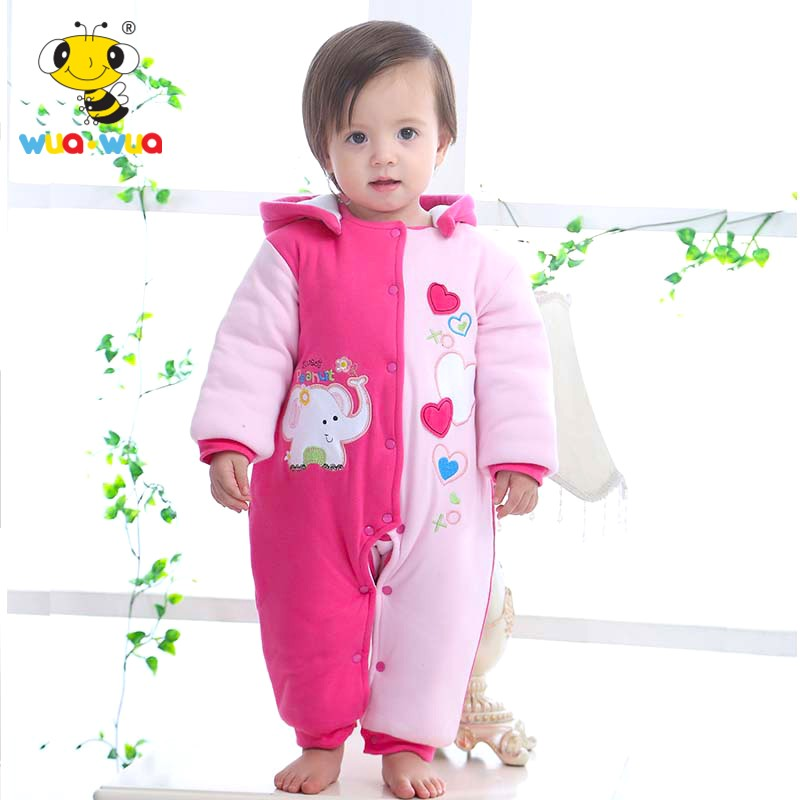 Winter intensificatio warm Cotton Baby Rompers Baby Clothes Cartoon embroidery  children warm down cotton baby warm winter coat warm thicken baby rompers long sleeve organic cotton autumn