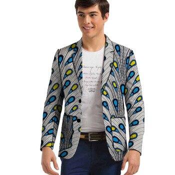 African print mens blazer handmade Men Fashion suit jacket wedding/party Suit/Blazer male clothing