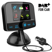 DAB Wireless bluetooth fm car transmitter and dab car radio receiver usb Handsfree with antenna цена