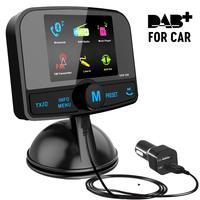 DAB Wireless bluetooth fm car transmitter and dab car radio receiver usb Handsfree with antenna long range TF card