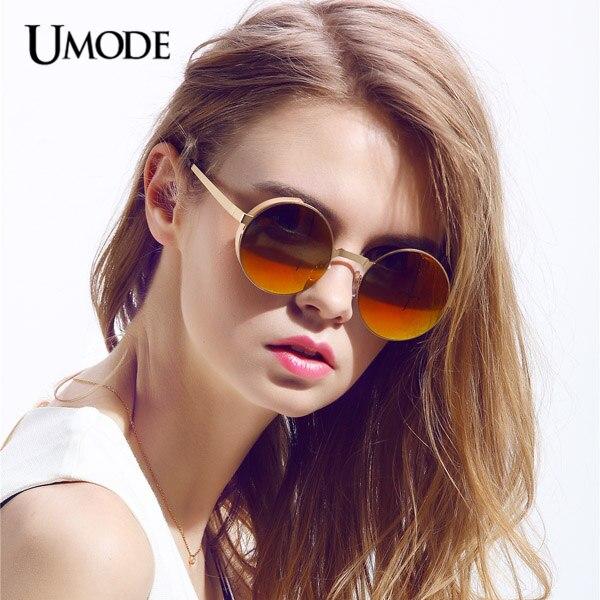 mirror sunglasses for women  Aliexpress.com : Buy Umode Round Steam Punk Sunglasses Blue Mirror ...