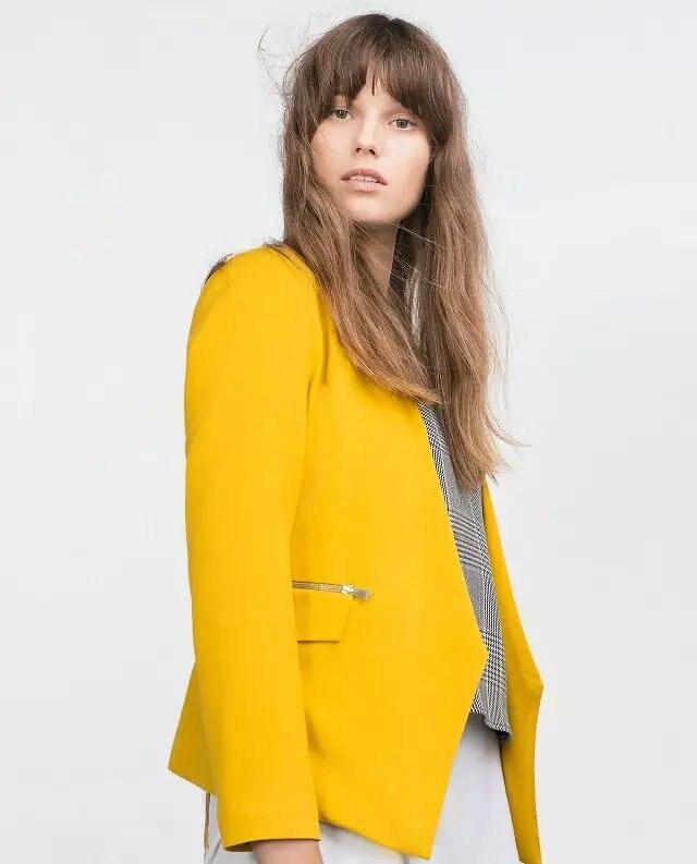 Blazer mujer color amarillo