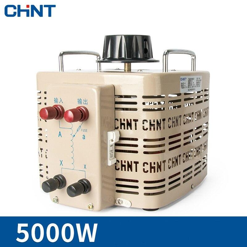 CHINT TDGC2 5kva Adjustable 0v-250v Single-phase Voltage Regulator 5000w Input 220v Voltage Regulator free shipping 50pcs ams1117 5 0v ams1117 lm1117 1117 5 0v voltage regulator sot 89