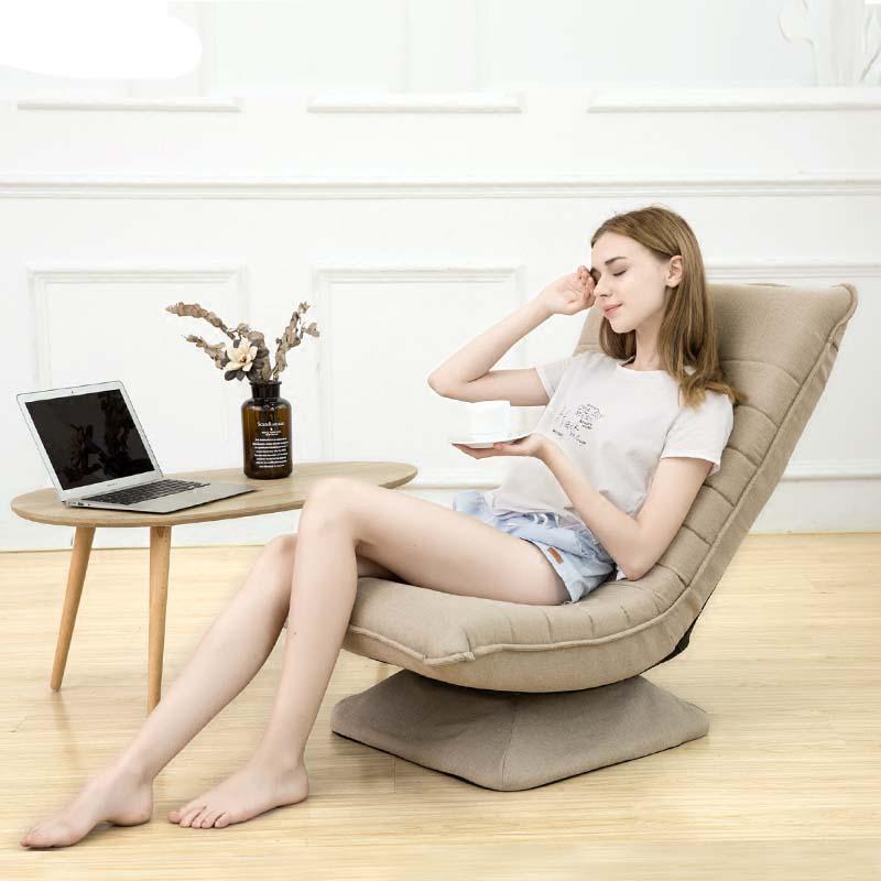 Paresseux canapé simple balcon pliant petit appartement tissu chambre chaise pivotante amovible et lavable
