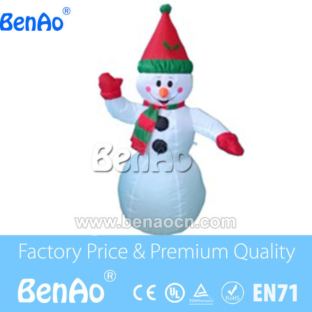 X124 Free shipping 5m high Happy Inflatable Christmas Snowman with Santa Hat//Lovely inflatable snowman with hat for event