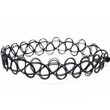 Black Tattoo Stretch Choker Necklaces