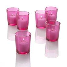 bulk set fo 48 glass colored votive candle candleusd66