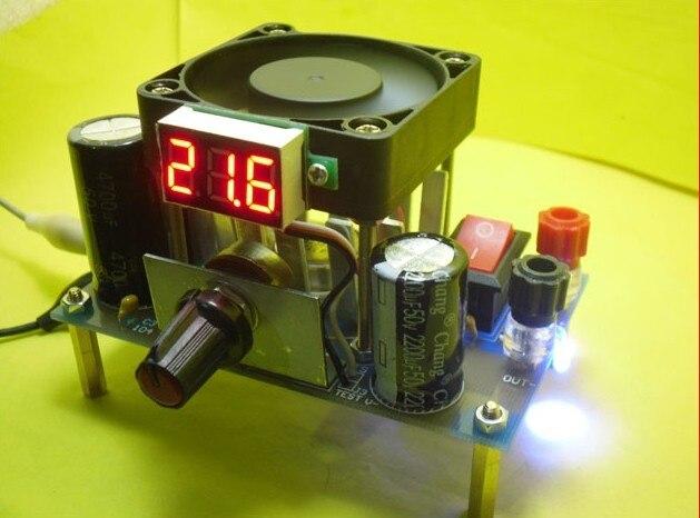 Freeshipping LM338k High power adjustable linear voltage regulator module suite