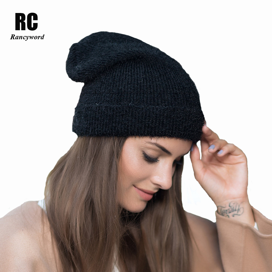 [Rancyword] Winter Hats For Women pompoms Knitted Cashmere Thick Warm Beanies Female Wool Skullies Caps RC1225 new knitted beanies hats women winter caps sport cycling warm hats pompoms casual female casquette touca inverno thick ride mask