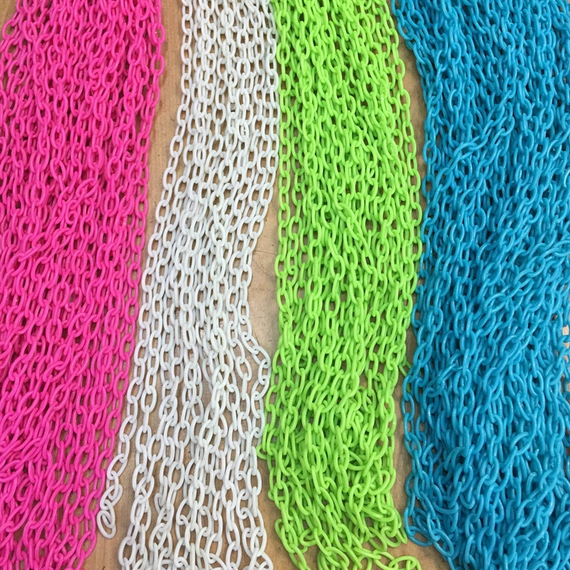 7MM/w 10Strands=4m Colorful Acrylic Plastic Chain Jewelry Chains Jewelry Accessories Fittings