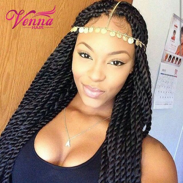 Aliexpress.com : Buy Lace Box Braids Wig Twist Synthetic Black Hair Heat Resistant Braids With ...
