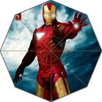 Cool Iron Man Custom Nice New Best Design Portable Fashion Stylish Useful Foldable Umbrella Good Gift