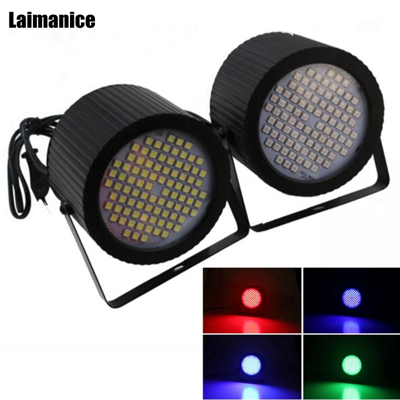 Laimanice White/RGB Flash 88Led DJ Disco strobe light sound voice music control stroboscope Led stage light Effect party EU/US sport car style 2 led white light flashlight keychain w sound effect red 4 x lr41