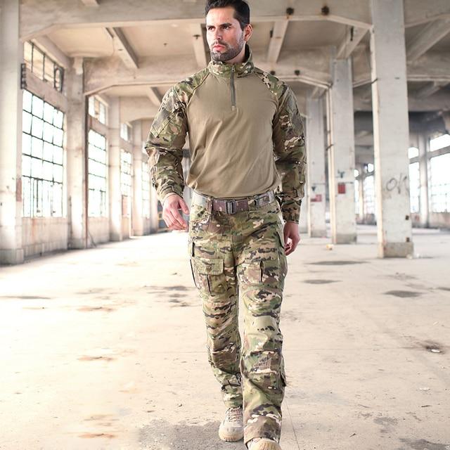 2017 Camuflaje Multicam CP Trajes de Rana MC G3 Trainning Uniformes incluyen un 1/4 zip camisa y uno pantalones tácticos