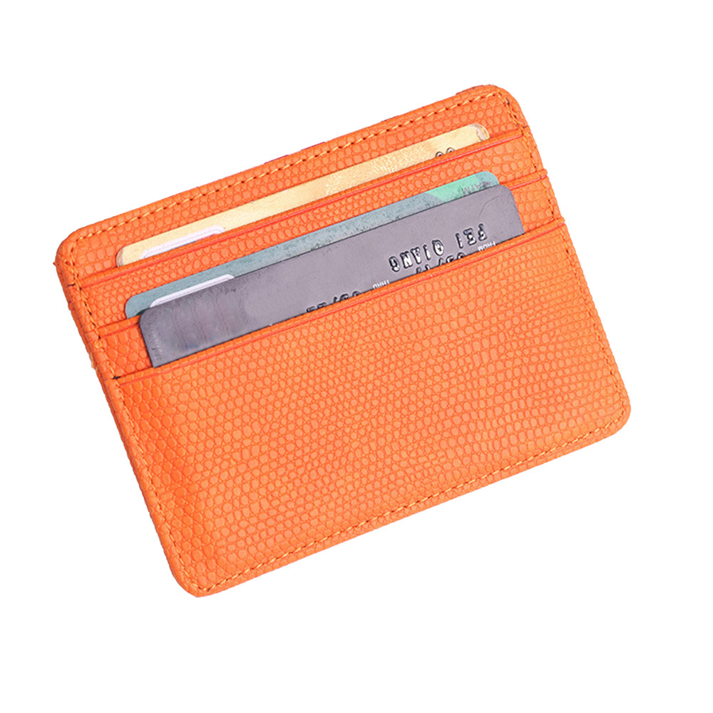 Men Wallets Cover Card-Holder Package Bank-Card Lichee-Pattern Travel Leather Fashion
