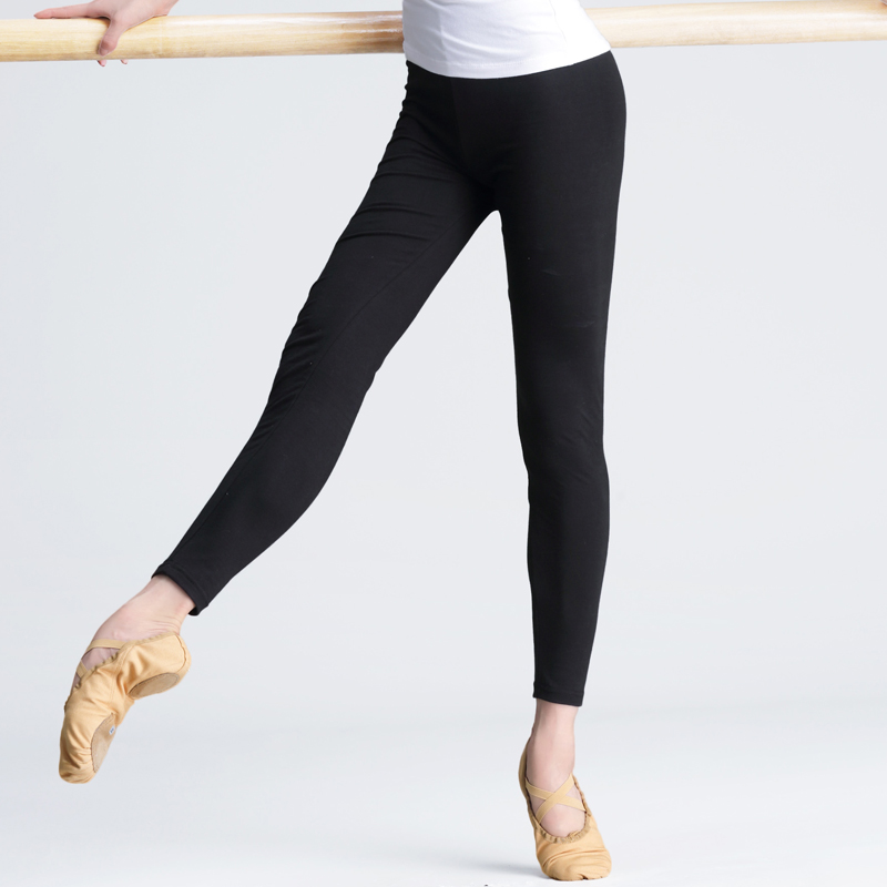 Professional Cotton Black High Elastic Ballet Dance Pants Women Girls Ladies Fitness Pants Slim Ballet Leggings
