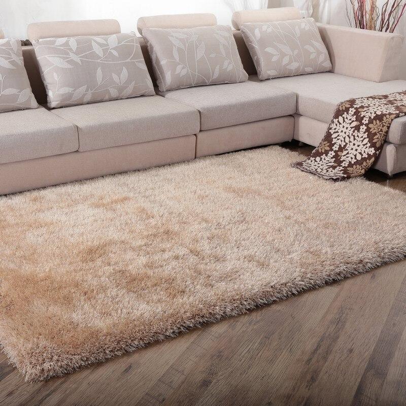 WINLIFE Soild Couleur tapis shaggy Style Européen Décoration Doux Tapis Gracieux Anti-Dérapage Salon/Chambre/Hôtel Tapis
