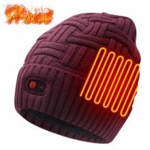 Шапка с электрическим подогревом, перезаряжаемая на батарейках для мужчин и женщин, зимняя нагревательная шапка, теплые шапочки для холодной погоды, для охоты на открытом воздухе