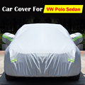 Vehículo contra los rayos UV lluvia nieve prevención a prueba de polvo impermeable del rasguño del coche cubre para VW Polo Sedan