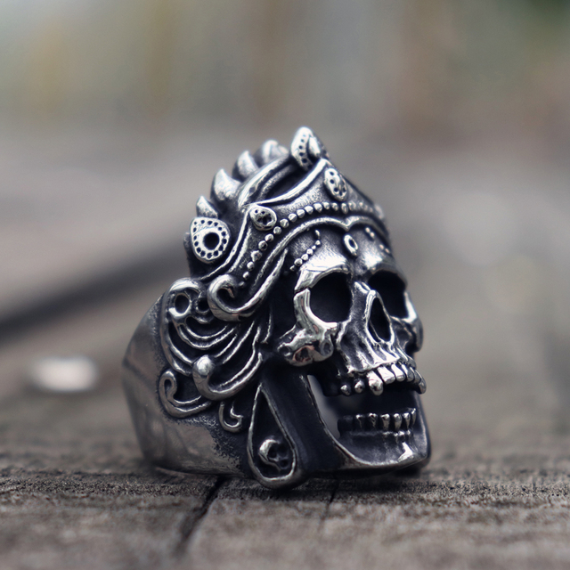 STAINLESS STEEL MAHAKALU SKULL RINGS