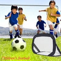 1 Sets DIY Children Sports Soccer Goals with Soccer Ball and Pump Football Net Practice Scrimmage Game Football Gate DIY 3Colors