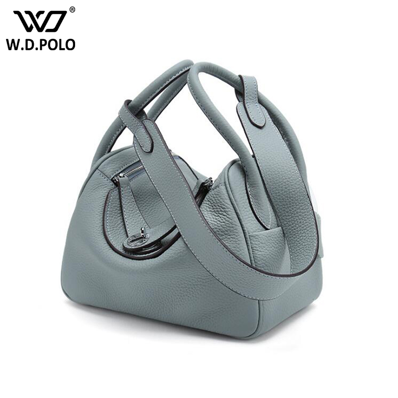 WDPOLO New Candy genuine leather women handbags chic lady main new brand design shoulder bags hot selling lady crossbody bagC345