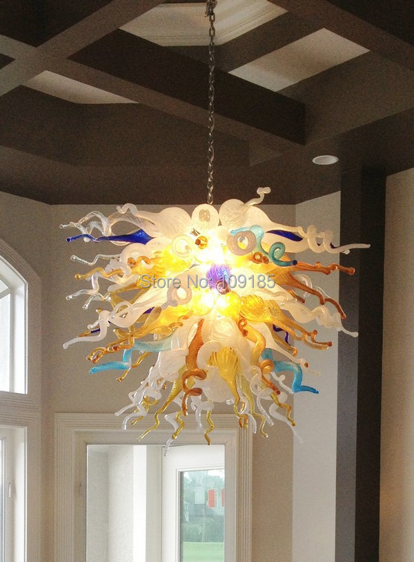 Us 750 0 Hot Fancy Dining Room Decor Art N Gl Led Chandelier Lighting Chain Chandeliers In Pendant Lights From