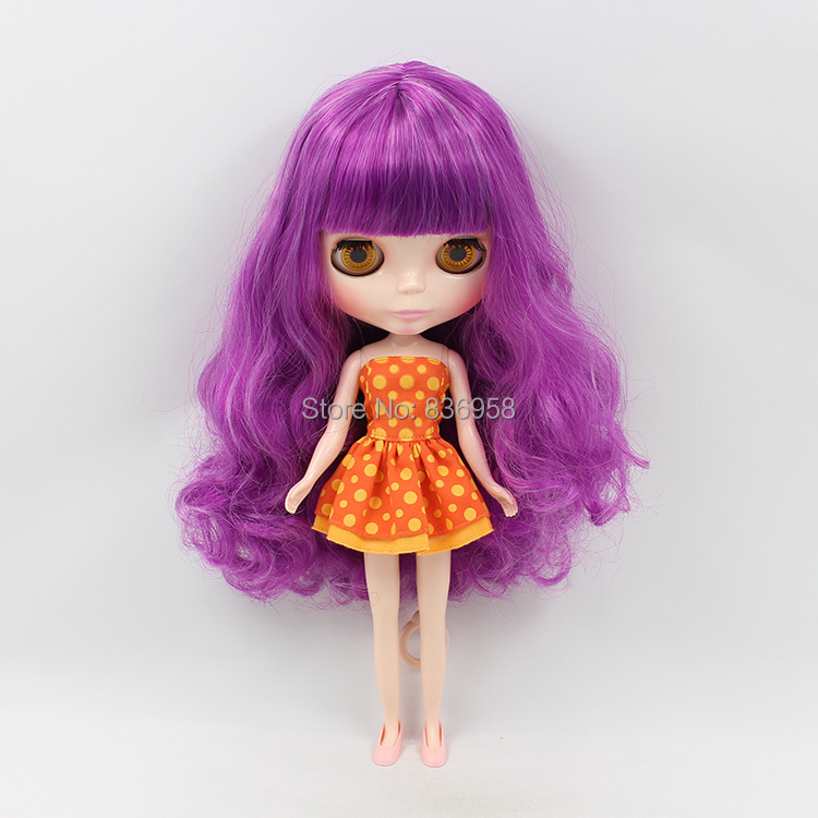 Nude Doll For Series No.230BL1049732 purple hair wavy hair long hair long wavy hand tied lace front synthetic hair grape purple cosplay party wig