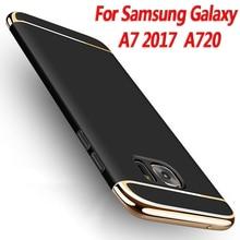 Full Cover 3 in 1 Hard PC shell for Samsung galaxy a7 2017 Case For Samsung galaxy A7 2017 A720 Cell Phone Cover Case Luxury New goowiiz темно синий samsung galaxy a720 a7 2017
