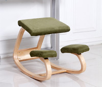 Original Ergonomic Computer Desk Kneeling Chair Stool Home Office Furniture Wood Ergonomic Kneeling Posture Support Chair