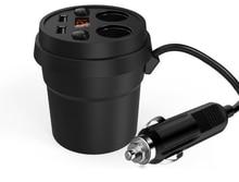 Творческий чашки стойки автомобильное зарядное устройство один для четырех цифровой дисплей line energy чашки автомобильное зарядное устройство USB Автомобильное зарядное устройство