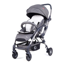 цена на European Standard Reversible Lightweight Baby Stroller High Landscape Four-wheeled Trolley Pushchair Foldable Portable Stroller