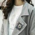 B2 CC Joyería Simulado Perla Hecha A Mano de Moda de Lujo Famoso Diseñador de la Marca 2016 Nuevo Broche Broche Para Las Mujeres de Solapa