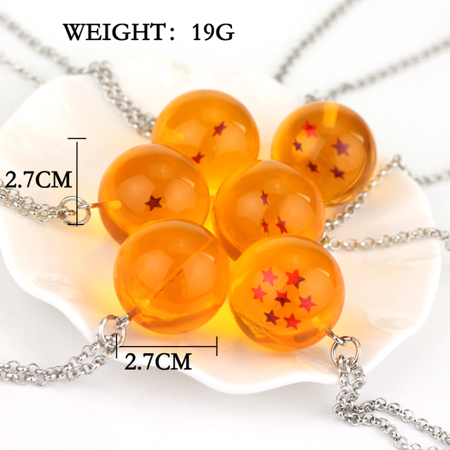 Anime Dragon Ball Z Orange Necklace