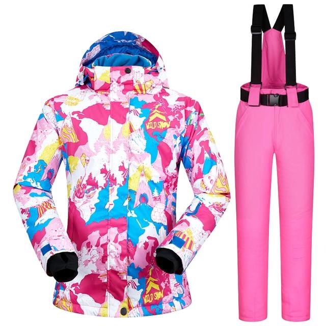 14d268964 Winter Ski Suit Women Brands 2018 New Sets Windproof Waterproof ...