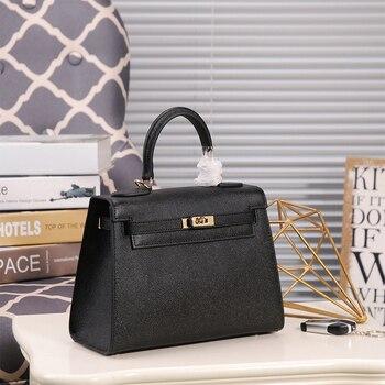 441a96a328cf 2019 новая женская сумка Келли маленькая квадратная сумка кожаная сумка  через плечо кожаная 002