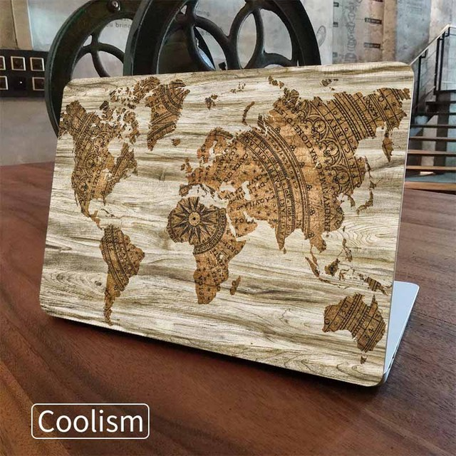 Wood world map grain laptop skin sticker decal for macbook sticker wood world map grain laptop skin sticker decal for macbook sticker pro air retina 11 12 gumiabroncs Image collections