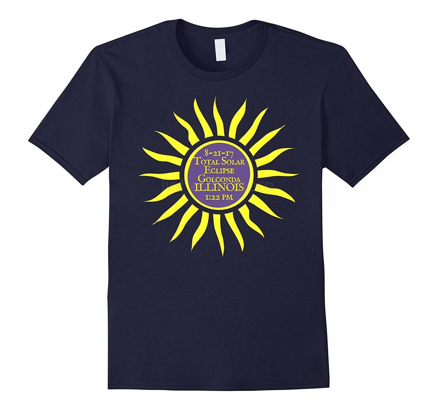 Golconda <font><b>Illinois</b></font> Total Solar Eclipse T-Shirt, Sun Tee New 2019 Summer Style Casual Wear image