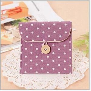 Image 5 - Güzel kadın kız sevimli hijyenik ped çanta tutucu peçete havlu çanta kozmetik torbası kılıfı sıhhi peçete çantası