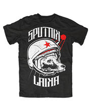 Sputnik Laika T-Shirt UDSSR,Russia,Retro,Kult,Ost,Fun,DDR,Roskosmos,Space, Free shipping Harajuku Tops t shirt Fashion Classic