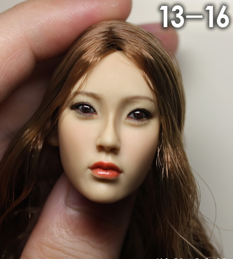 1/6 scale female head shape for 12 action figure doll accessories doll head carved not include the body,clothes and other 13-16