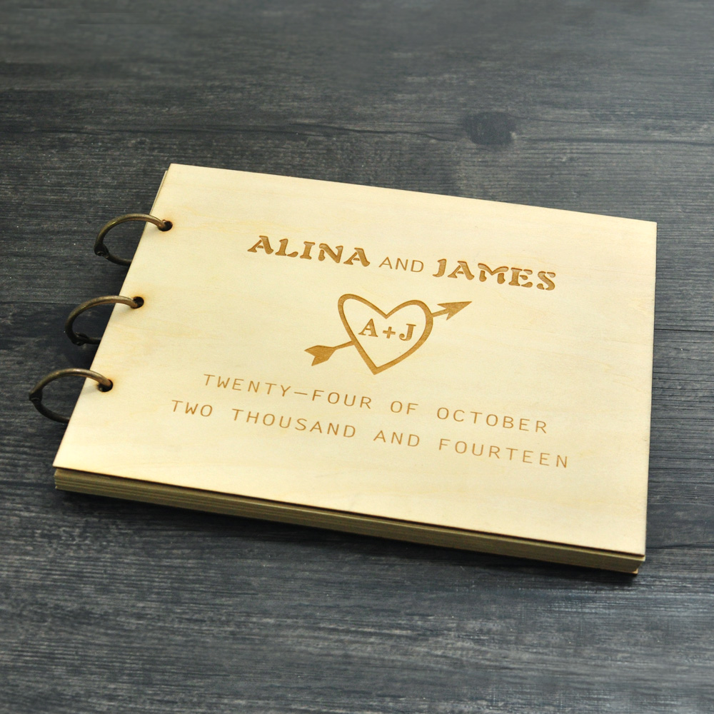 10 Crazy Creative Wedding Guest Book Ideas: Personalized Wedding Guest Book , Rustic Wedding Guestbook