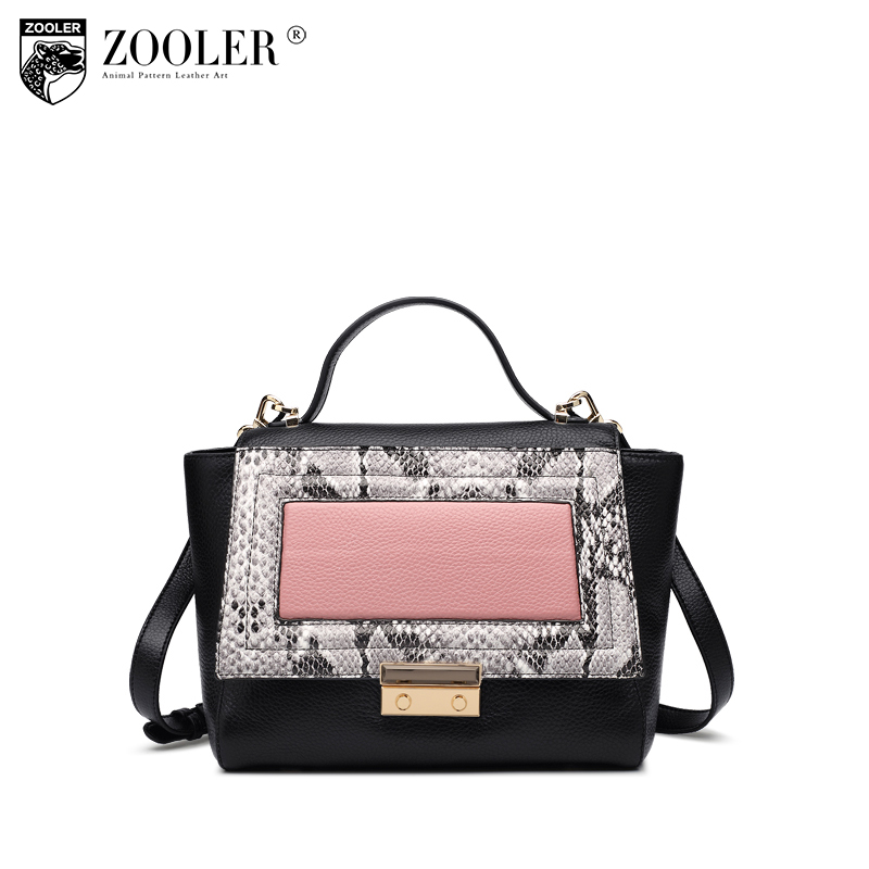 ZOOLER Fashion Casual Shoulder Bag Crossbody Bags Luxury Brand Designer Handbag Women High Quality Genuine Leather Purse  H123 sales zooler brand genuine leather bag shoulder bags handbag luxury top women bag trapeze 2018 new bolsa feminina b115