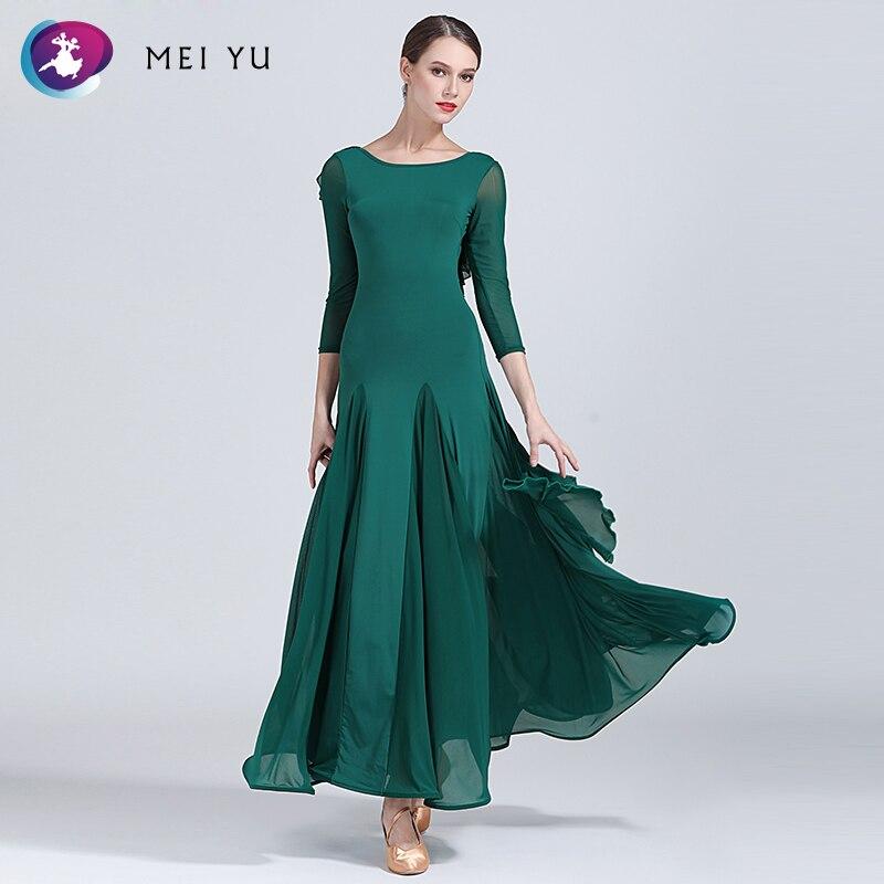Ernstig Yilinfeier S9035 Moderne Dans Kostuum Vrouwen Lady Adult Verstoorde Dancewear Waltzing Tango Ballroom Kostuum Avond Party Dress