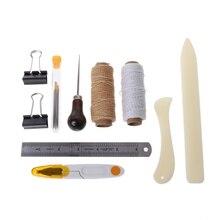 16Pcs Bookbinding Kit Starter Tools Set Bone Folder Paper DIY Crafts Sewing Leathercraft Item цены