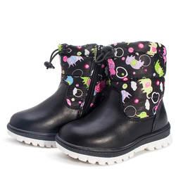 Зимние Детские зимние сапоги из хлопка и шерсти для мальчиков и девочек, обувь из хлопка, детская обувь, обувь из натуральной кожи, детские