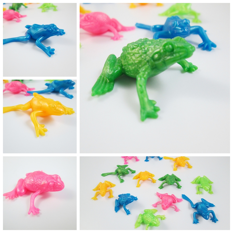 10pcs/lot TPR Environmental Simulation Frogs Model for Kids Learning Toy