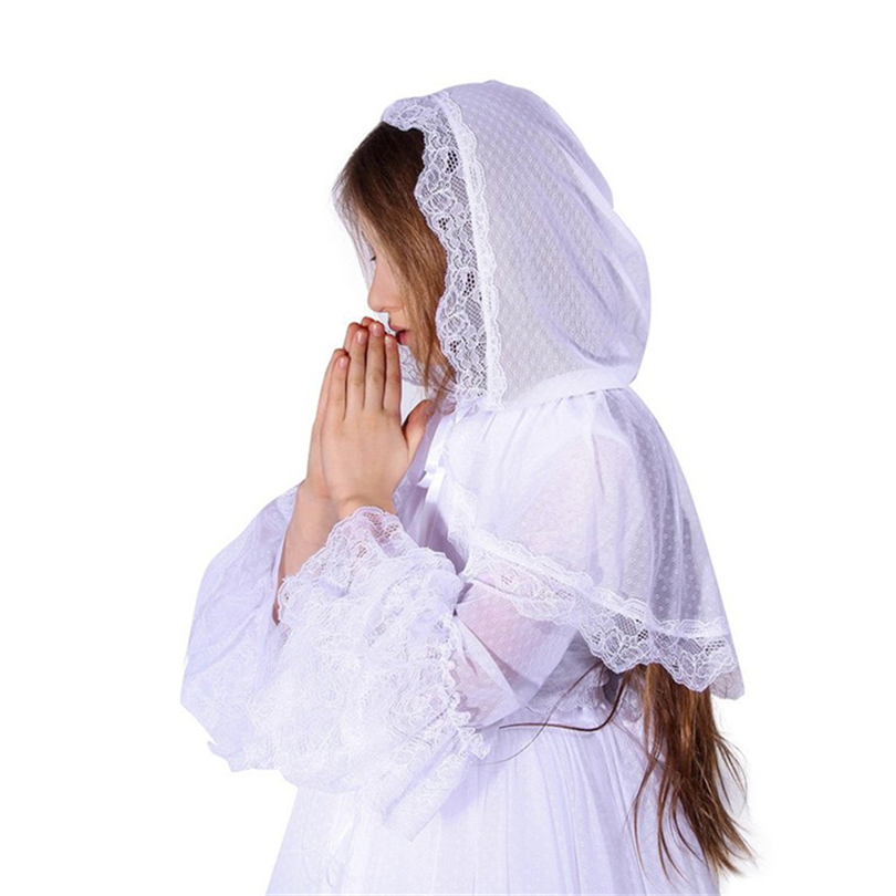 Little Girls Catholic Veil Mantilla For Church Head Covering Latin Mass Lace Mantilla Negra Voile Mantilla De Novia Ma Espa Ola